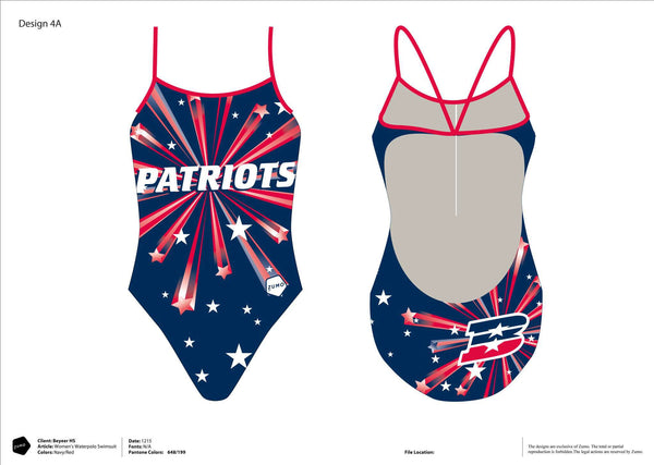 Beyer High School Women's Team Tank Suit