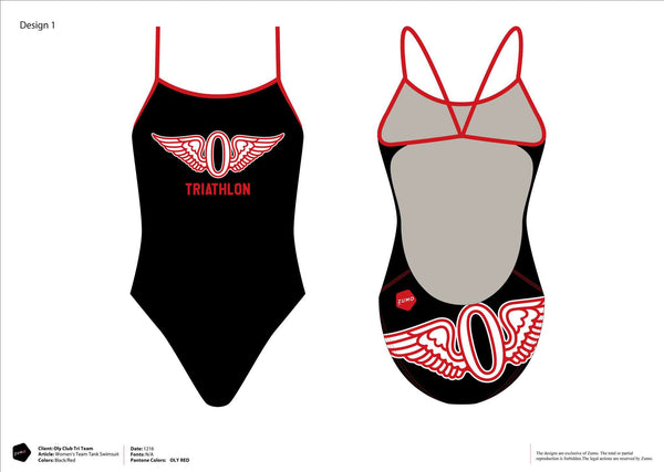 Olympic Club Triathlon Women's Team Tank (black or white option)