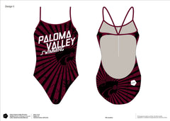 Paloma Valley HS Swimming Women's Team Tank Suit