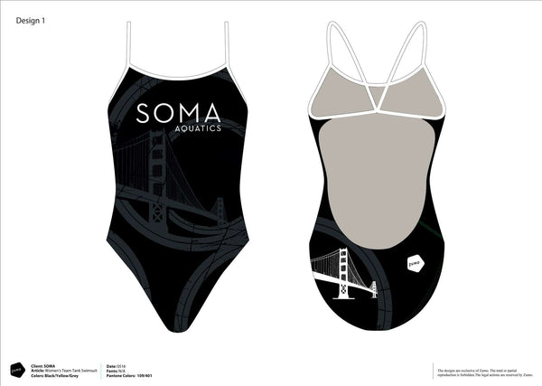 SOMA Women's Team Tank Suit