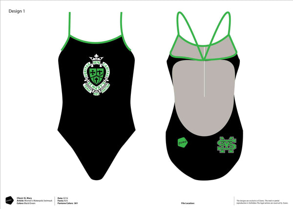 St. Mary's High School Swim Women's Team Tank Suit