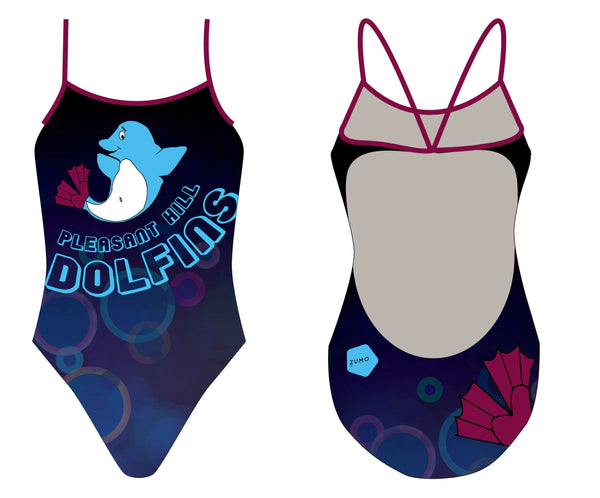 Pleasant Hill Dolphins Swim Team Tank Suit