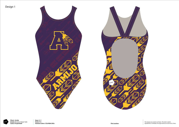Armijo HS Swim Team Women's Classic Racer Suit