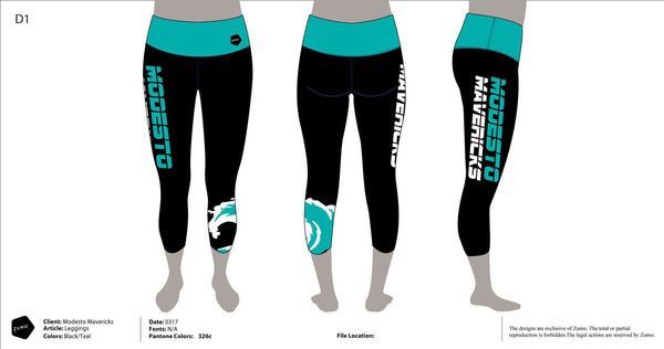 Modesto Mavericks Swim Team Women's Cropped Leggings