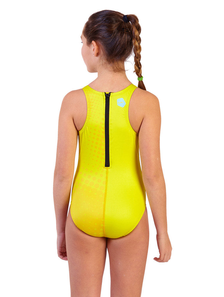 PLAY LIKE A GIRL WATER POLO SUIT- LEMON