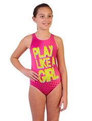 PLAY LIKE A GIRL WATER POLO SUIT- MAGENTA
