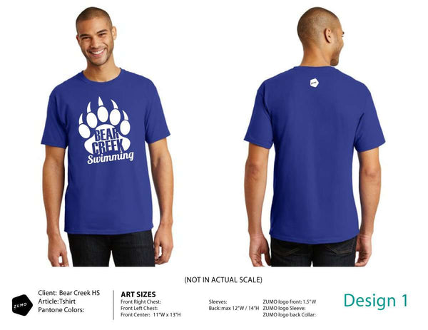 Bear Creek HS Swimming T-Shirt