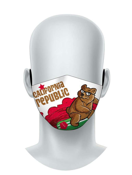 Cali Bear Surfer Face Mask