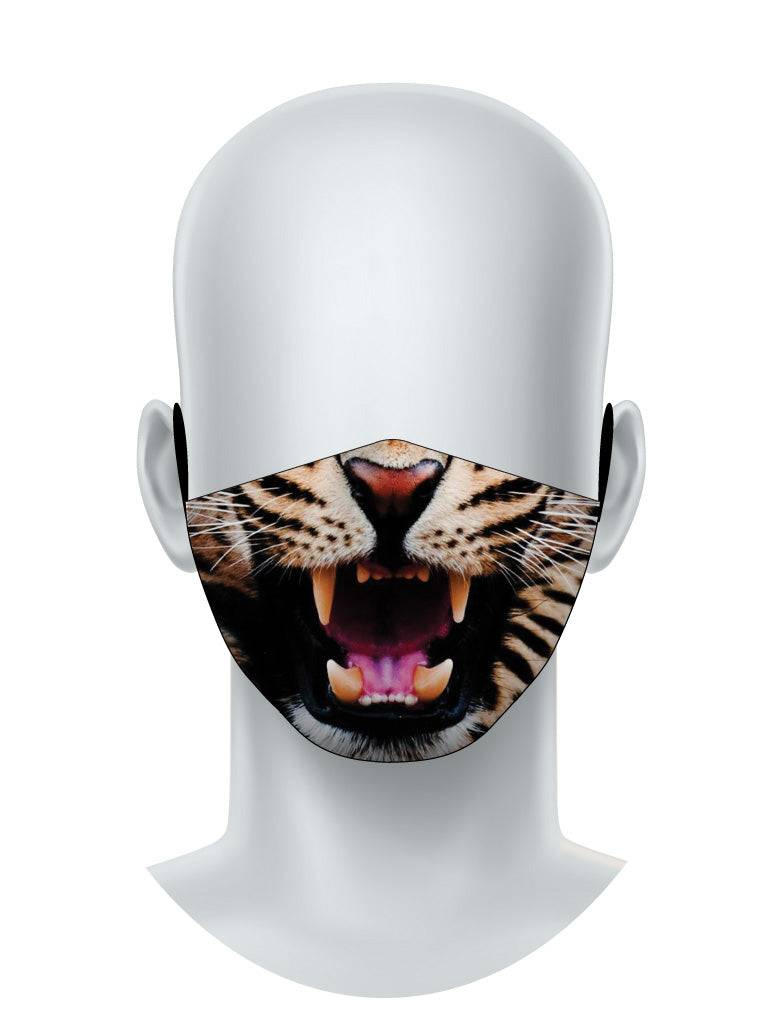 Growling Leopard Face Mask