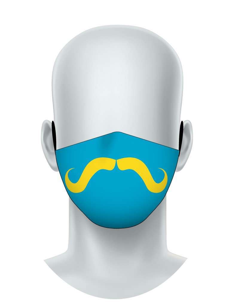 Yellow Mustache Face Mask