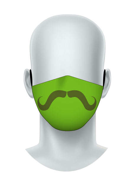 Green Mustache Face Mask