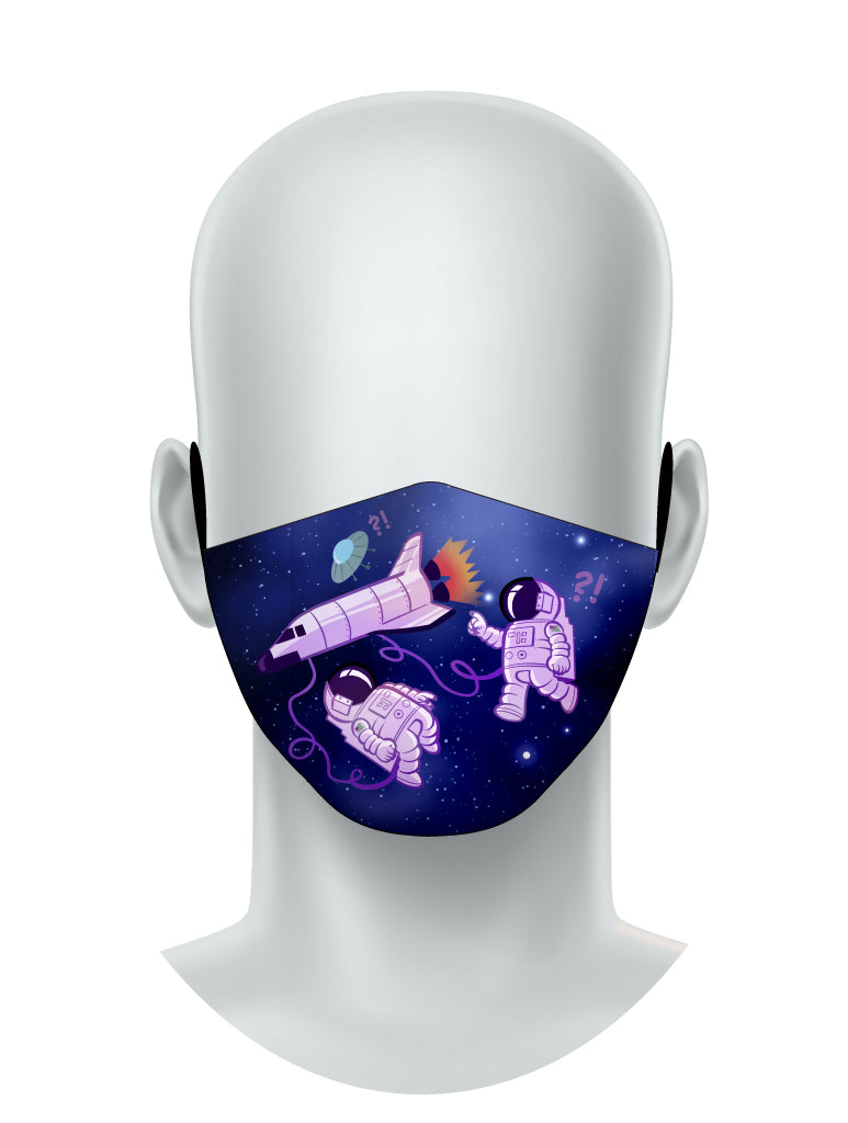 Space Traveler - Face Mask