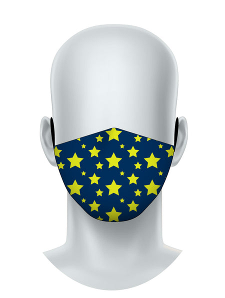 Yellow Stars Face Mask