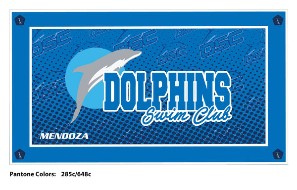 Brentwood Dolphins Swim Club Team Towel (Custom Name Option)