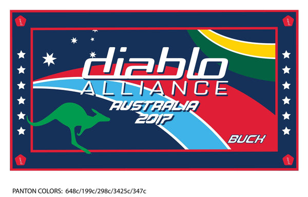 Diablo Alliance Australia Team Towel (With Custom Name)
