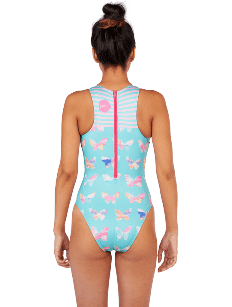 Butterfly Women's Euro Water Polo Suit Back