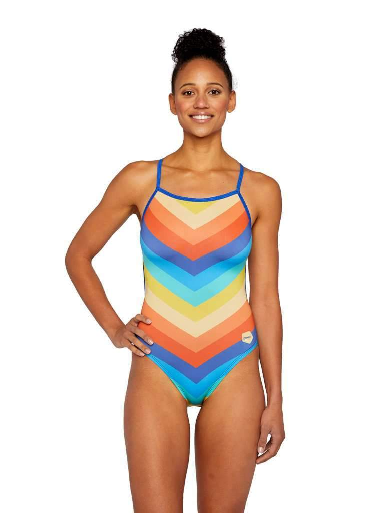 Chevron Beach Day Cut-Out-Tank Back
