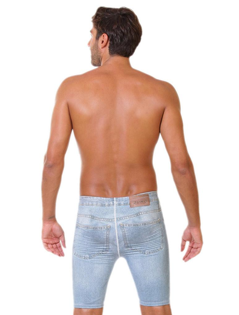 Denim Men's Swimming Jammers-Back