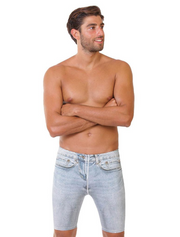Denim Men's Swimming Jammers-Front