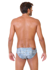 Denim Original ZUMO Mens Swimwear Brief-Back