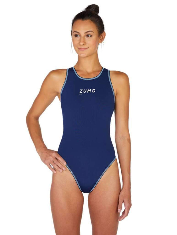 Euro Pro Women's Water Polo Suit Navy Front