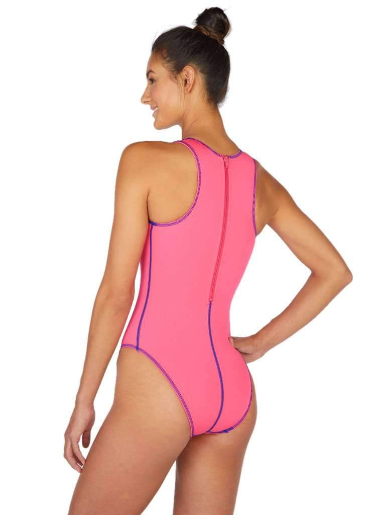 Euro Pro Women's Water Polo Suit Pink Front