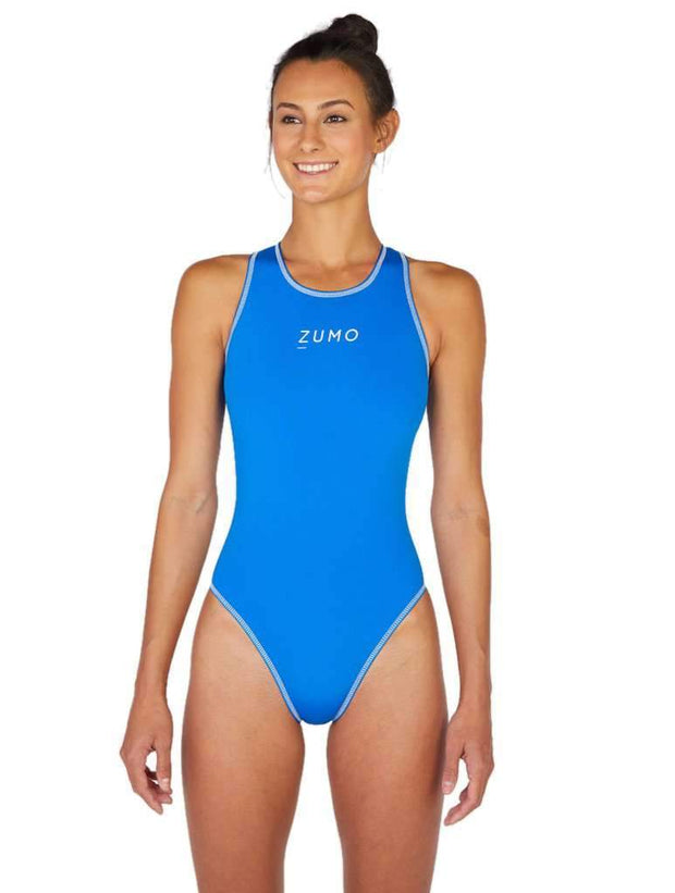 Euro Pro Women's Water Polo Suit Royal Front
