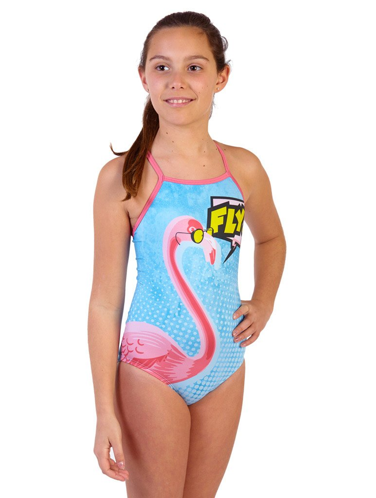 Flamingo Fly Girl's Flyback Front
