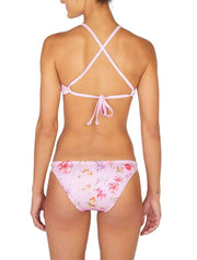 Flora Euro Cut Bikini Bottom Pink Back