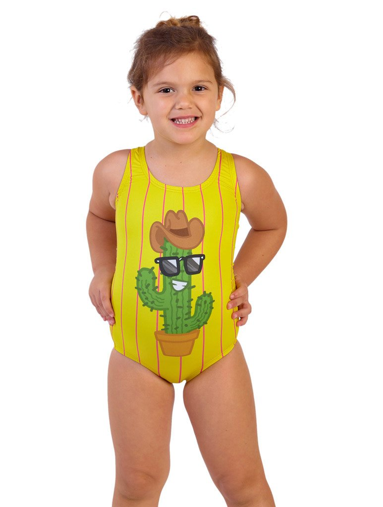 Howdy Cactus Girl's Racer Front