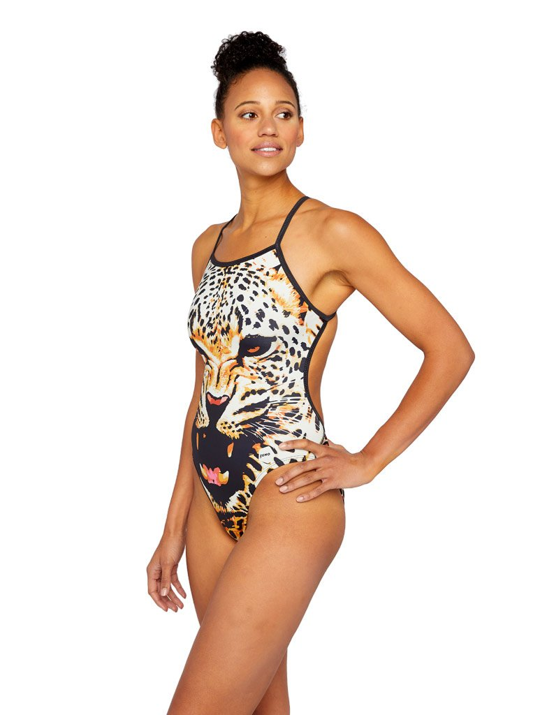 Leopard Swim Tank Back