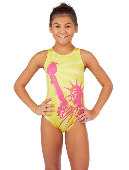 Liberty Girl's Water Polo Suit Sunshine Front