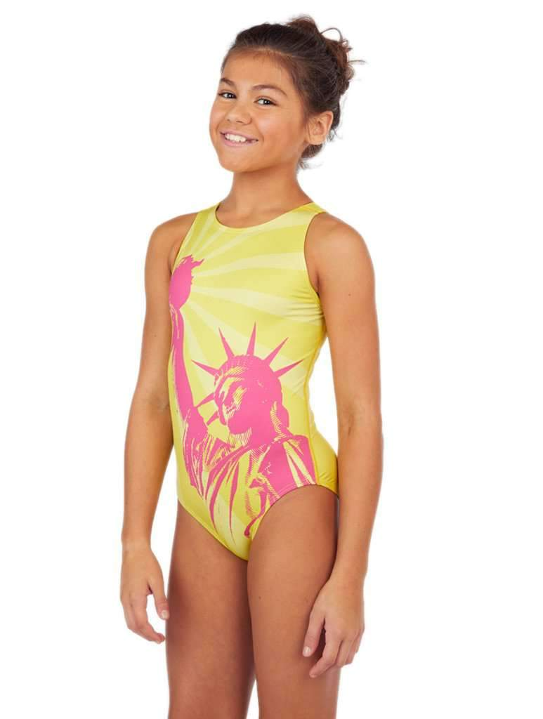 Liberty Girl's Water Polo Suit Sunshine