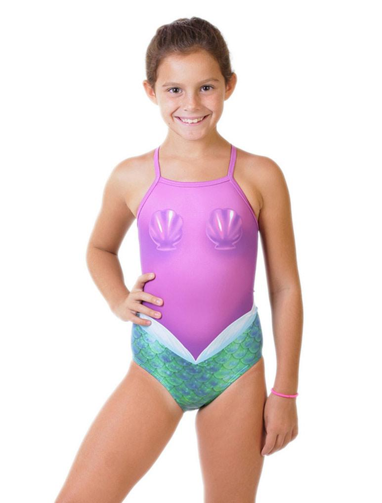 Mermaid Girl's Flyback