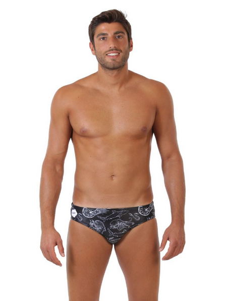 Sea Life Original ZUMO Black Swim Brief-Front