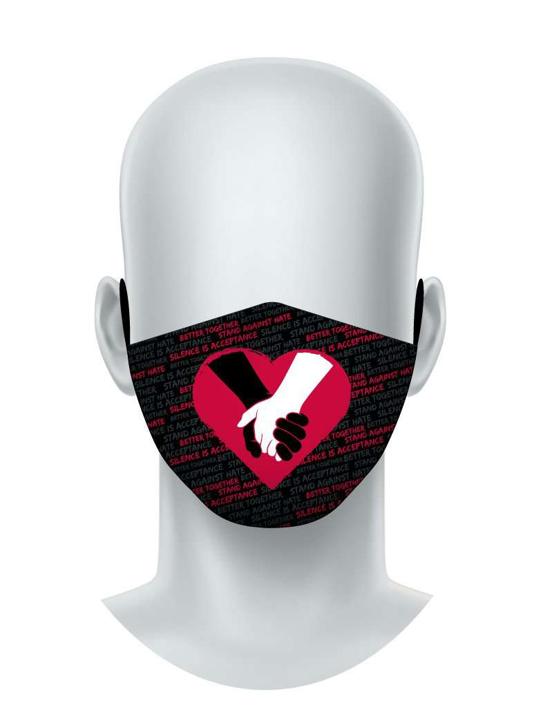 Stand Against Hate Face Mask
