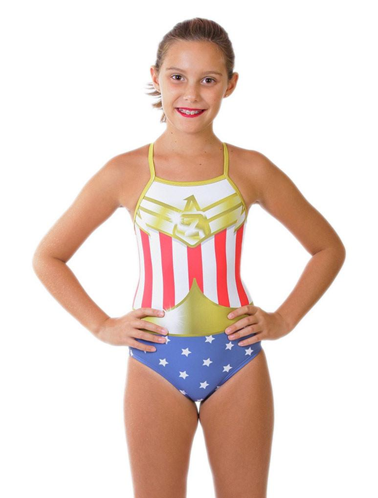 Superhero Girl's Flyback Front