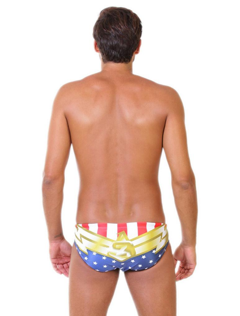 Superhero Original ZUMO Mens Swim Brief-Back