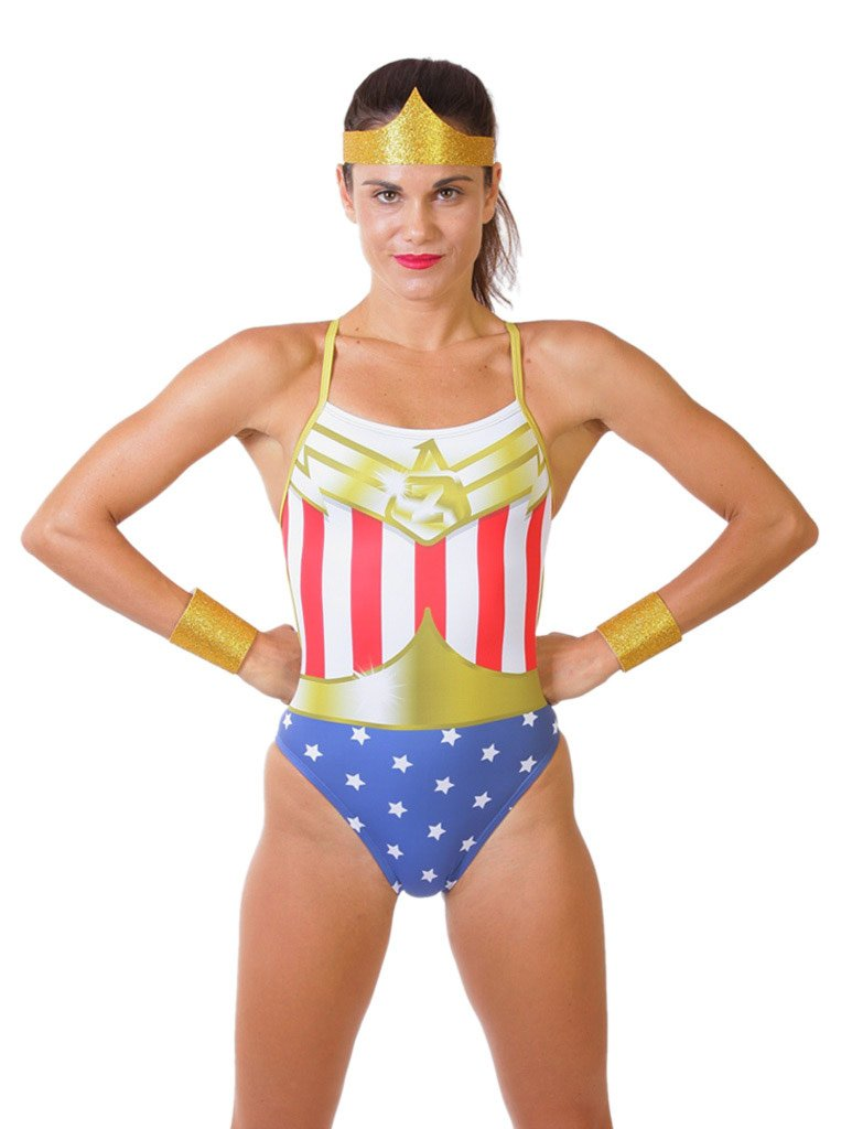 Superhero Women's Cut-Out Tank Front
