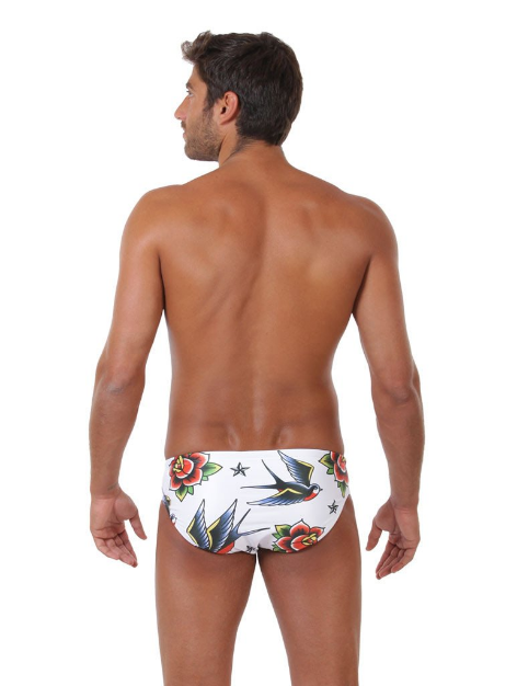 Swallows Tattoo Original ZUMO Swim Brief Back