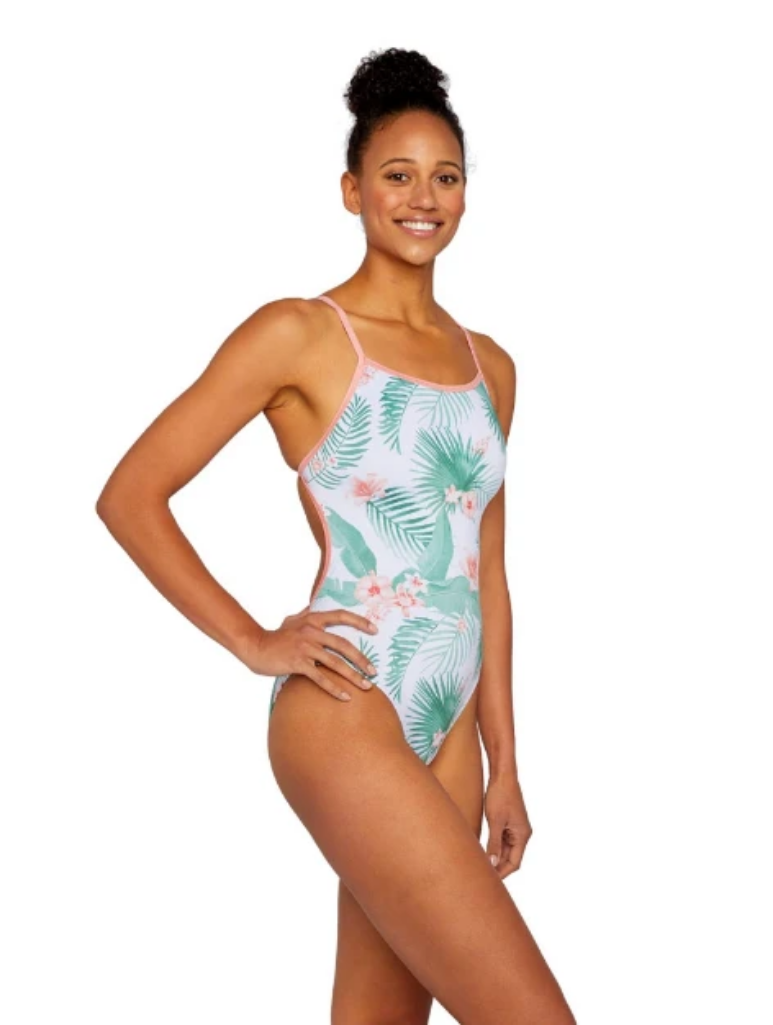 Tropical Day Dream Swim Tank Peach Back