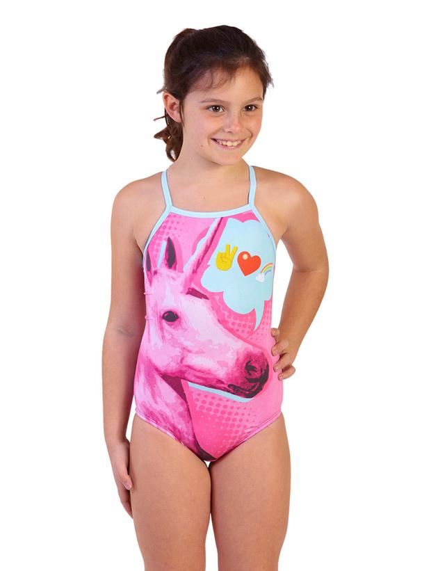 Unicorn Bestie Girl's Flyback Front