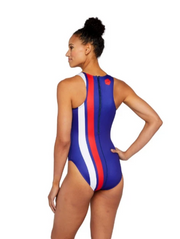 USA Varsity Euro Women's Water Polo Suit Back