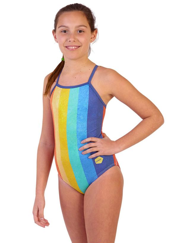 Vintage Rainbow Girl Flyback Front