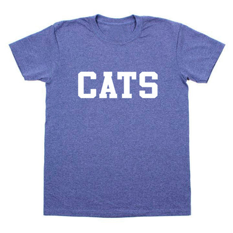 JCS  Youth Heather Blue Cats Tee