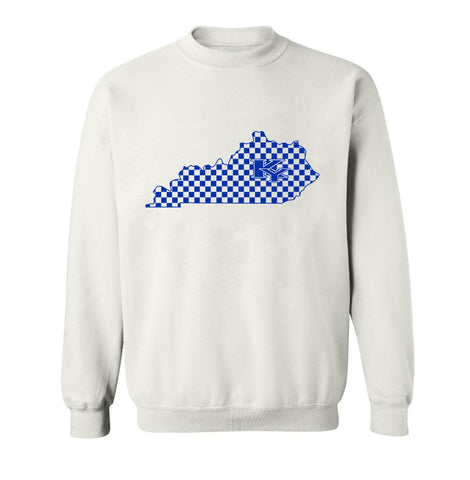 JCS White Crew Neck Checker State Pride Sweat Shirt
