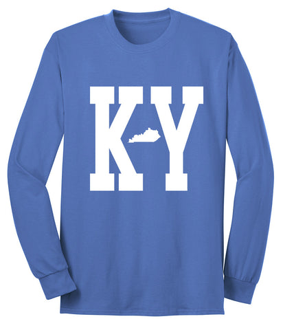 JCS Kentucky Mini State Royal Heather Blue Crew Sweat Shirt