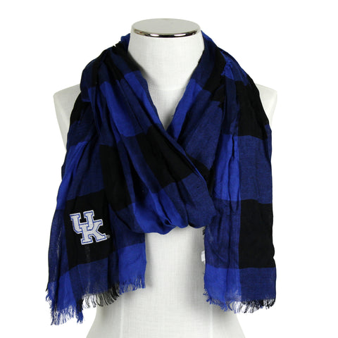 UK Roayl and Black Buffalo Check Scarf