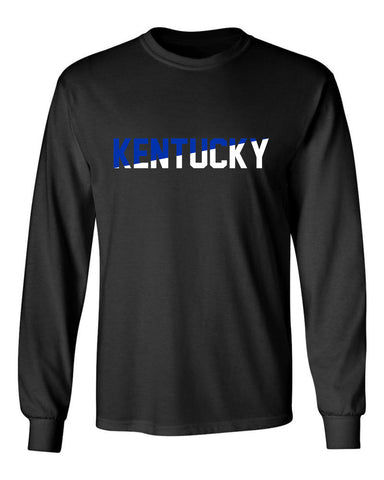 JCS Split Kentucky Black Long Sleeve State PrideTee