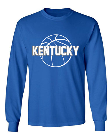 JCS Royal State Pride Long Sleeve Kentucky Tee With Ball